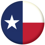 Texas State Flag 58mm Mirror Keyring